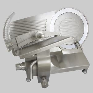 Stainless steel gravity slicer GSX 350 belt transmission or CE gear with separate sharpener supplied