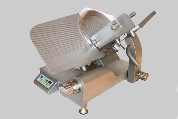 Affettatrice a Gravità Inox GSX 350 trasmissione ingranaggi SA CE con Affilatoio Separato in dotazione 1